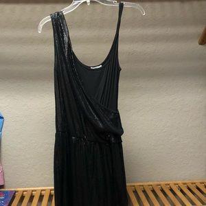 Bar III black one shoulder tank dress